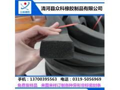 10*10工字型防盗门硅胶密封条3M自粘防撞隔音橡胶条